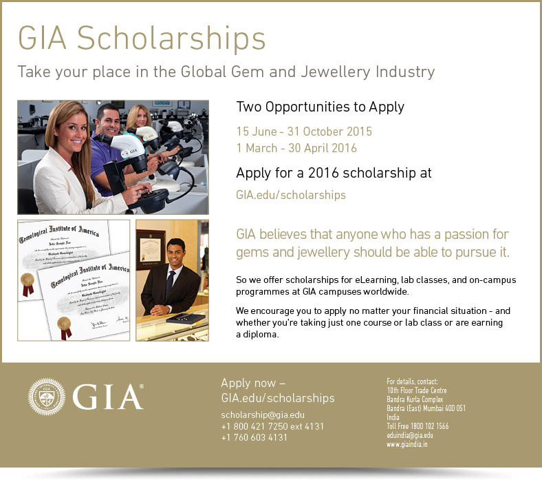 GIAs Scholarship for Gems & Jewellery Industry