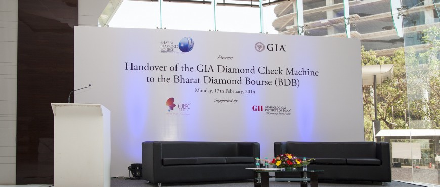 Handover Ceremony of GIA's Diamond Check Machine